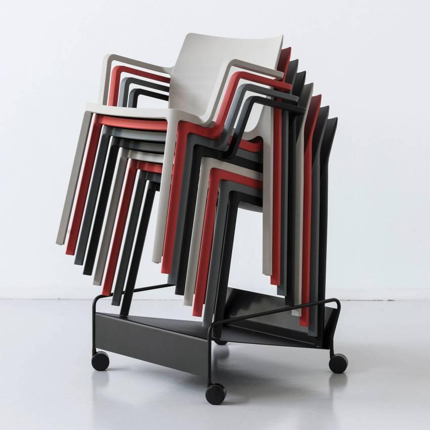 Chaise empilable LP gris - Kristalia
