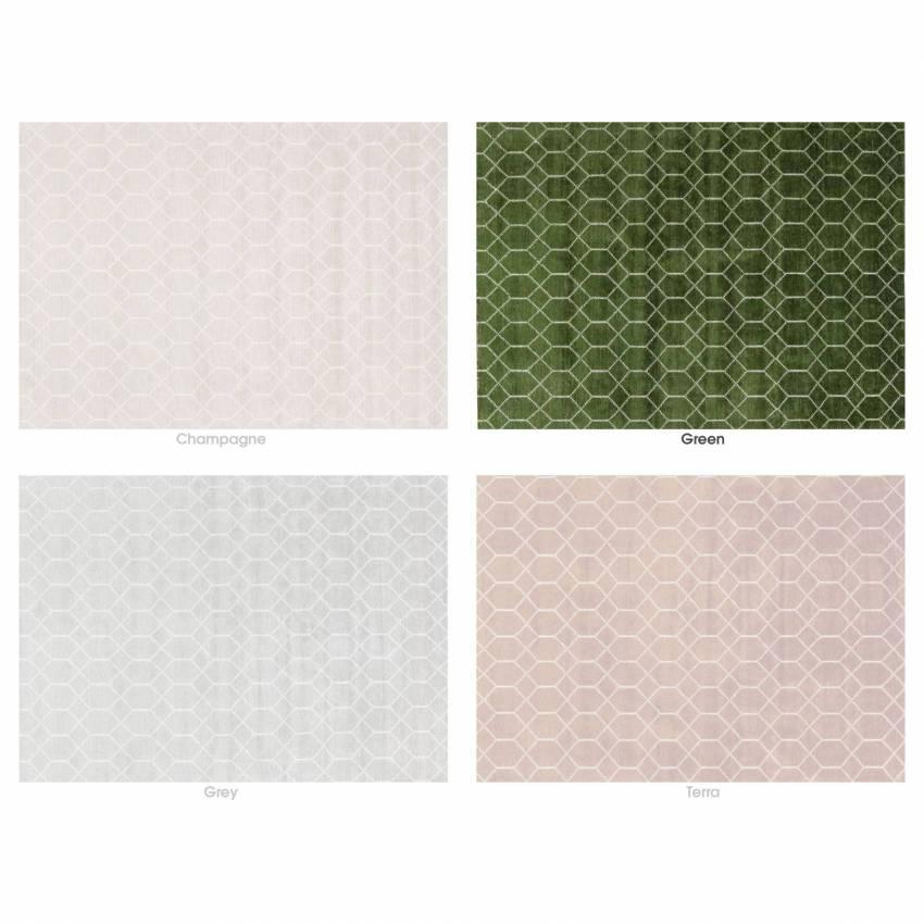 Idaho / Tapis SALERNE 100% bambou / 4 coloris / 3 dimensions