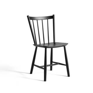 Chaise J41 / H. 82,5 cm / Hêtre / Noir