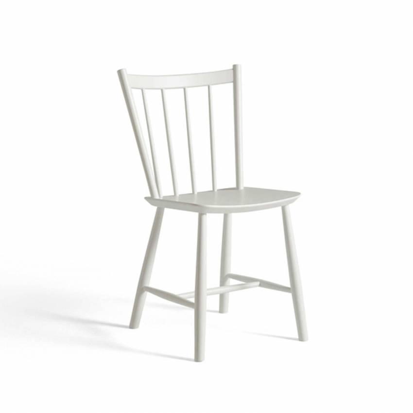 Chaise J41 / H. 82,5 cm / Hêtre / Blanc