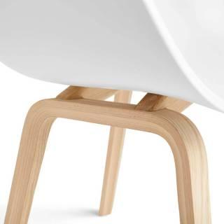 Lot de 4 chaises AAC 22 / Blanc / Pied Chêne