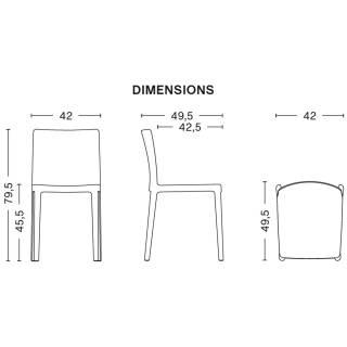 Lot de 4 chaises ELEMENTAIRE / Blanc-Crème