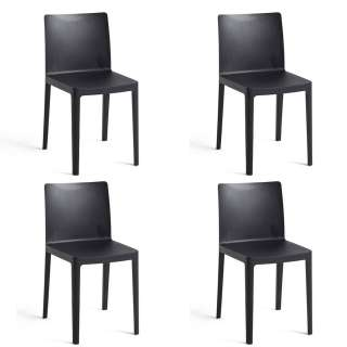 Lot de 4 chaises ELEMENTAIRE / Anthracite