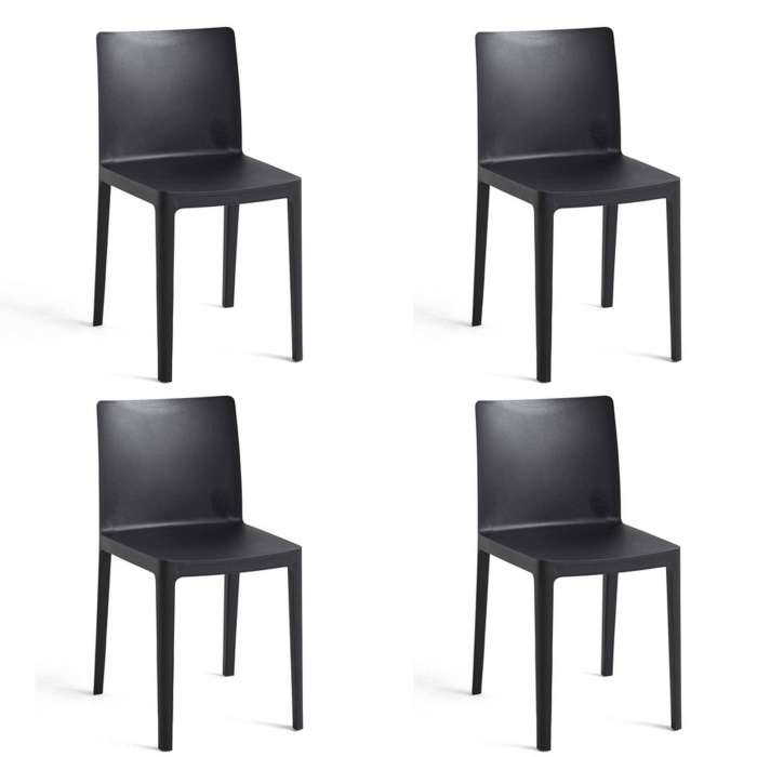 Lot de 4 chaises ELEMENTAIRE / Anthracite