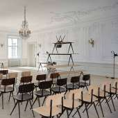 Lot de 4 chaises RESULT / Chêne Mat / Piètement Noir