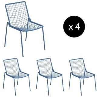 Lot de 4 chaises de jardin RIO / H. 83,5 cm / 5 coloris