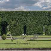 AMELIE - Lot de 4 fauteuils empilables outdoor RONDA / H. 82 cm / 4 coloris