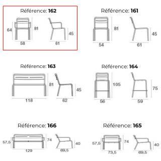 Lot de 4 fauteuils outdoor STAR / H. 81 cm / 7 coloris