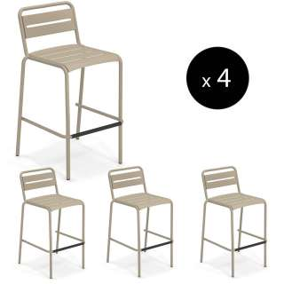 Lot de 4 tabourets outdoor STAR / H. 1,05 m / 7 coloris