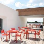 Lot de 4 chaises de jardin URBAN / H. 81 cm / 7 coloris