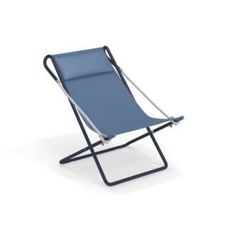 Chaise longue d'extérieur VETTA / L. 78 cm / Bleu
