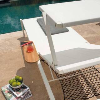 Chaise longue outdoor SHINE / P. 2,09 m / 4 coloris
