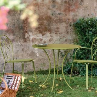 Lot de 4 chaises d'extérieur PIGALLE / H. 85 cm / 7 coloris