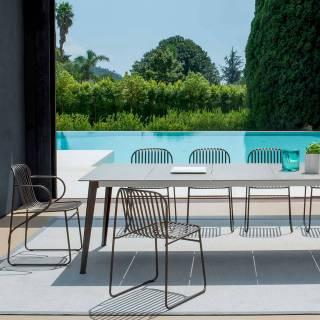 Lot de 4 fauteuils d'extérieur RIVIERA / H. 78 cm / 6 coloris