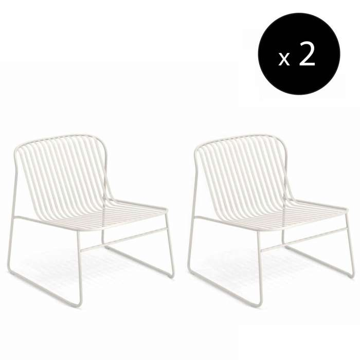 Lot de 2 chauffeuses outdoor RIVIERA / H. 69 cm / 6 coloris