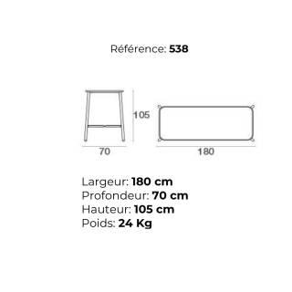 Table haute de jardin YARD / H. 1,05 m / 4 coloris