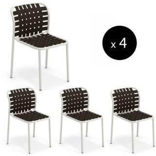 Lot de 4 chaises de jardin YARD / H. 81 cm / 5 coloris