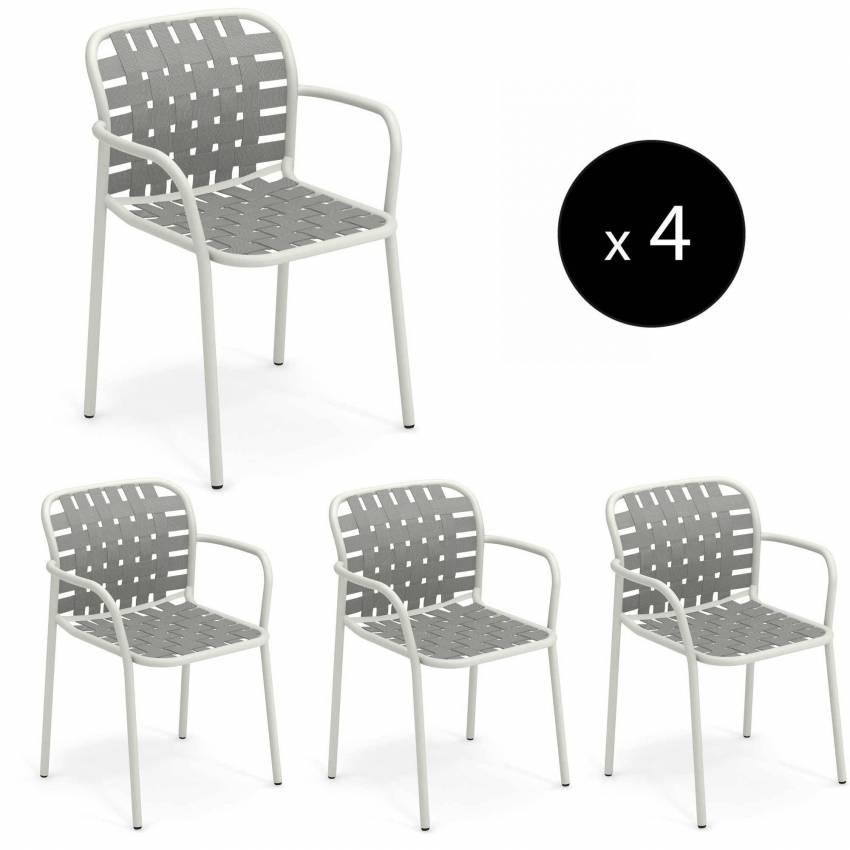 Lot de 4 fauteuils de jardin YARD / H. 81 cm / 5 coloris