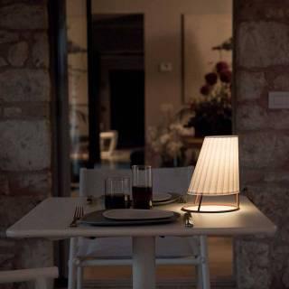 Lampe d'extérieur CONE / H. 22 ou 60 cm / Blanc Mat