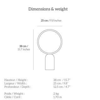 Lampe de chevet ATLAS / H. 38cm / Laiton