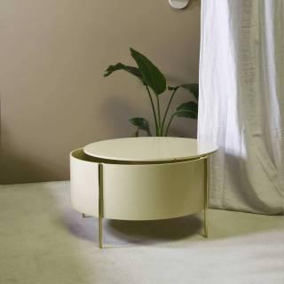 Table basse EMBORE / H. 80 cm / Beige