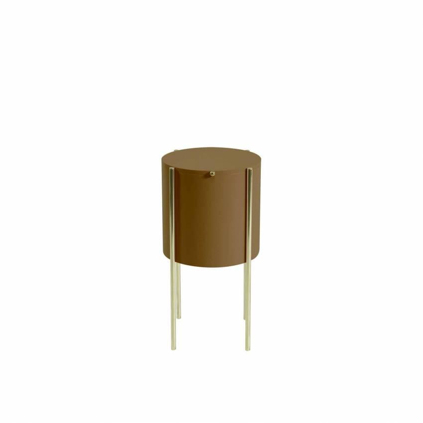 Table d'appoint EMBORE / H. 60 cm / Marron