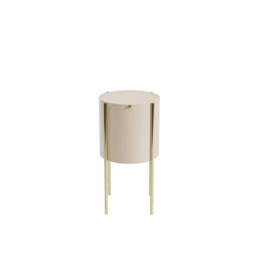 Table d'appoint EMBORE / H. 60 cm / Crème