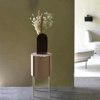 Table d'appoint EMBORE / H. 60 cm / Rose