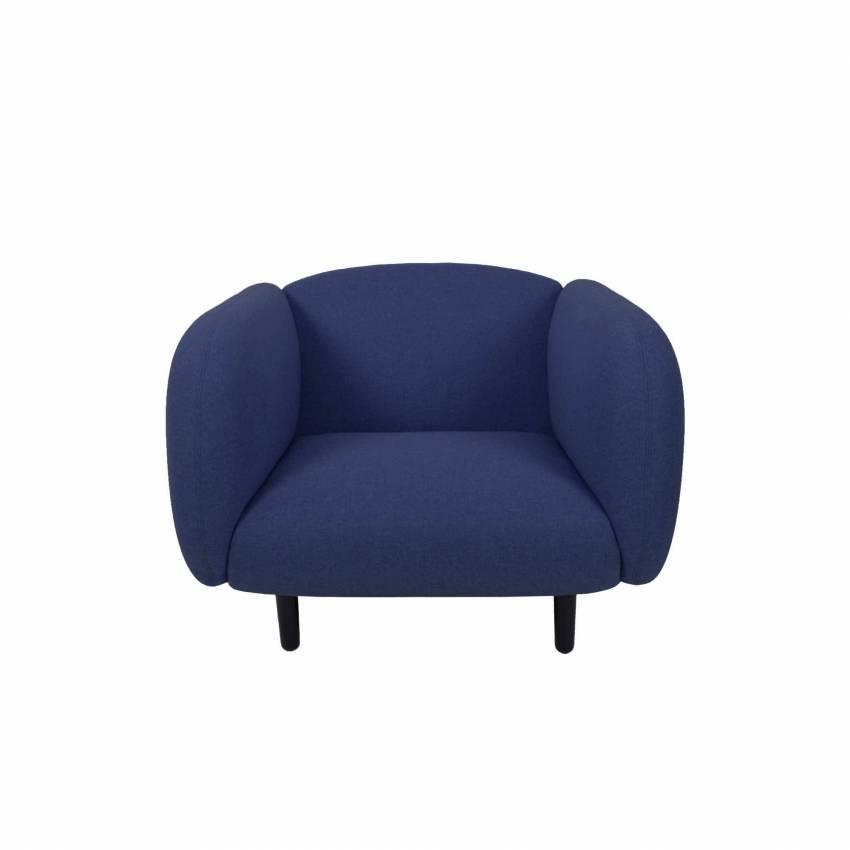 Fauteuil moelleux MOÏRA / L. 1 m / Bleu