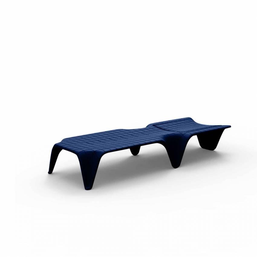 Chaise longue F3 / L. 2,10 m / Bleu Mat