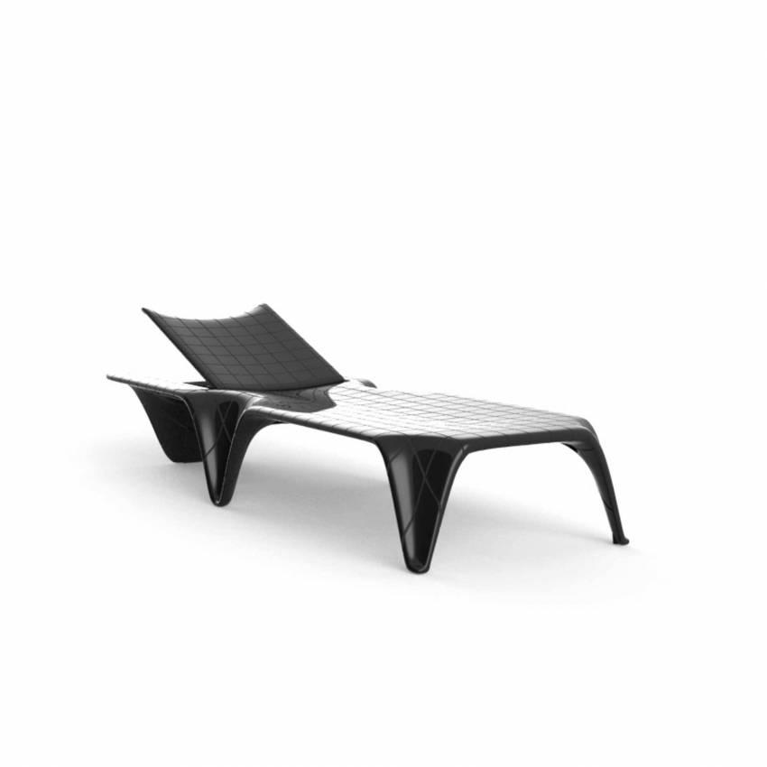 Chaise longue F3 / L. 2,10 m / Noir Laqué
