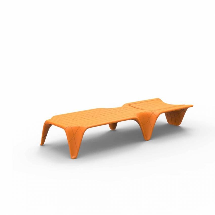 Chaise longue F3 / L. 2,10 m / Orange Mat