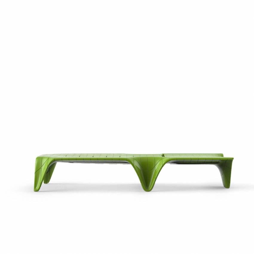 Chaise longue F3 / L. 2,10 m / Vert Laqué