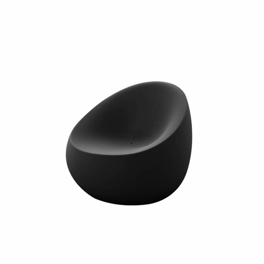 Fauteuil outdoor STONES / L. 88 cm / Anthracite