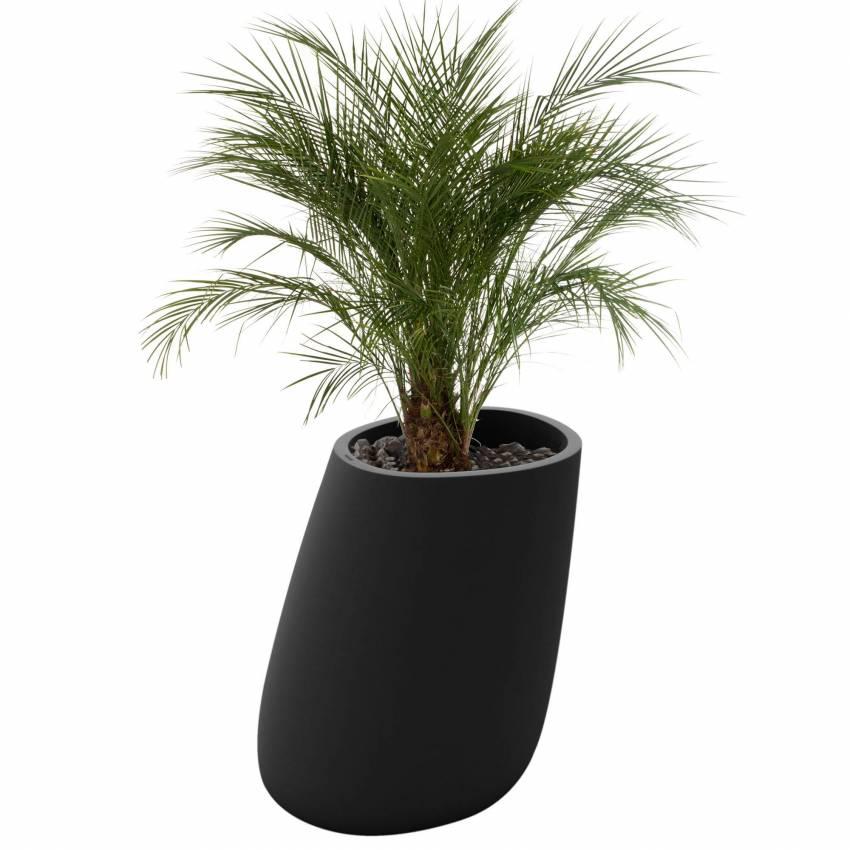 Pot de fleur outdoor STONES / H. 1 m / Anthracite