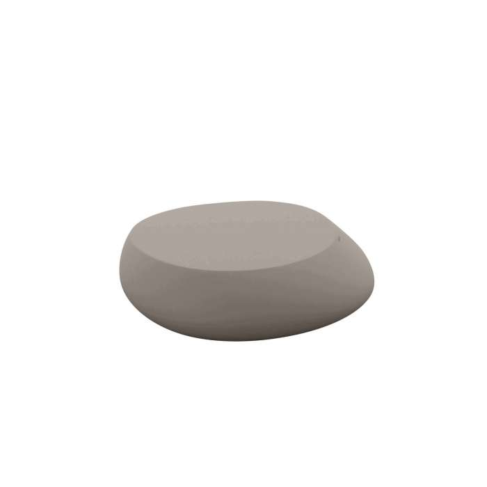 Table basse outdoor STONES / H. 25 cm / Taupe