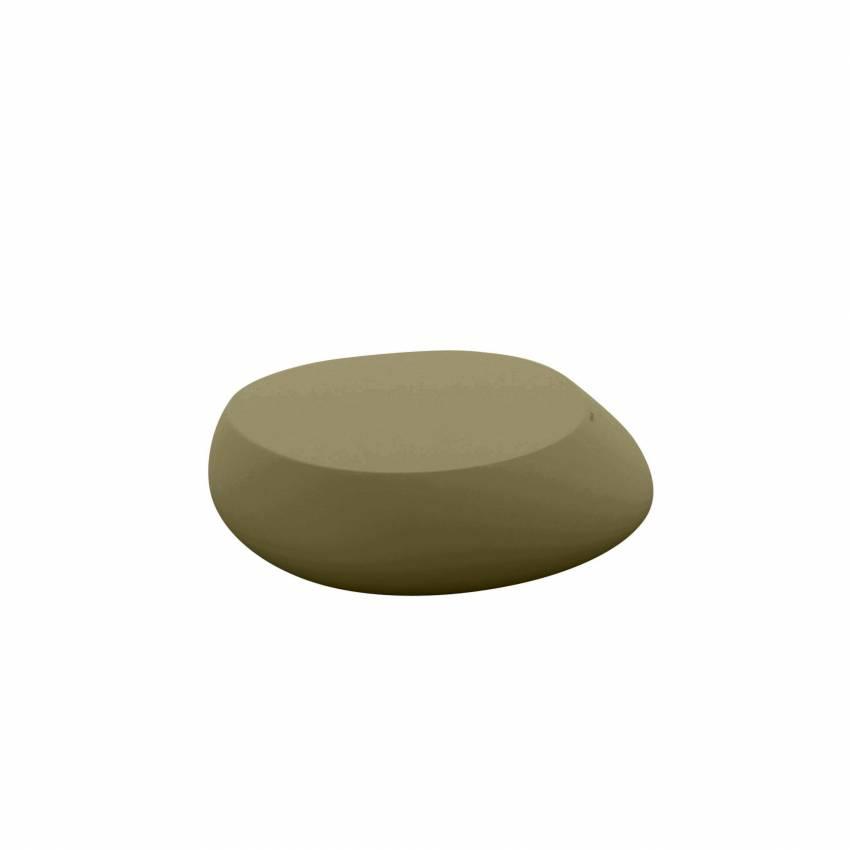 Table basse outdoor STONES / H. 25 cm / Kaki