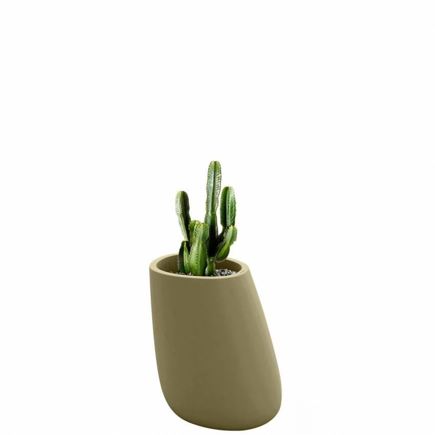 Pot de fleur outdoor STONES / H. 70 cm / Kaki