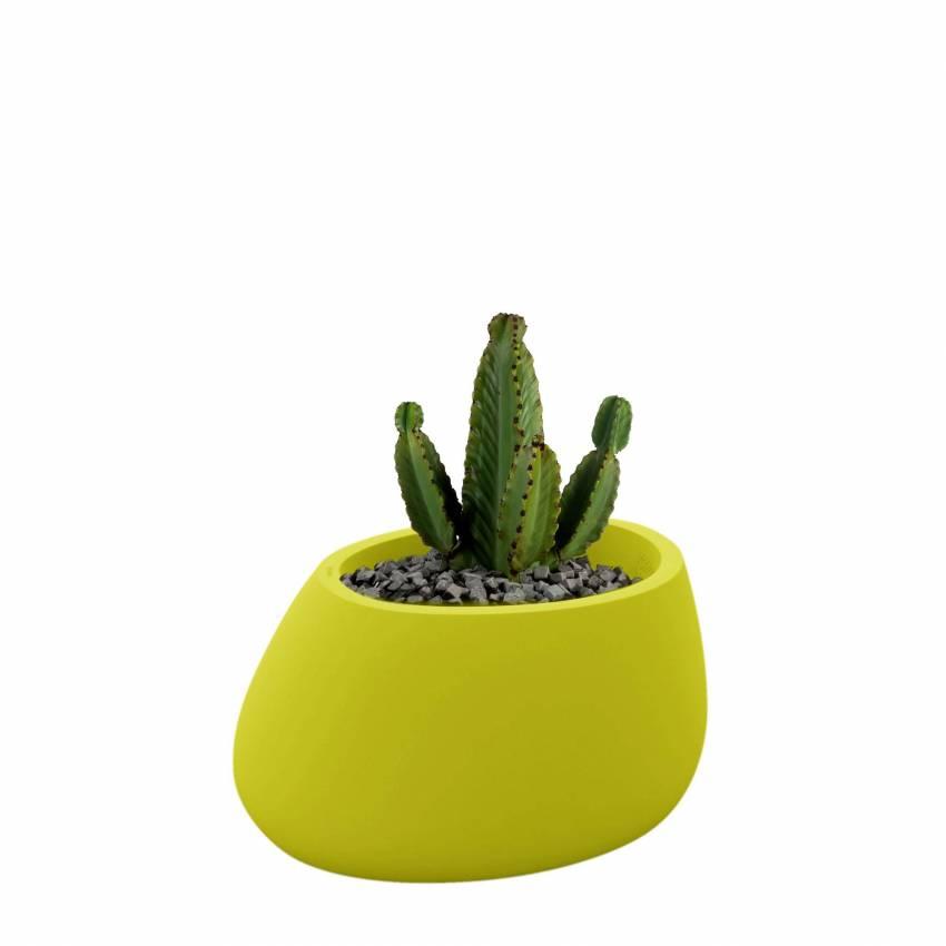 Pot de fleur outdoor STONES / H. 40 cm / Vert