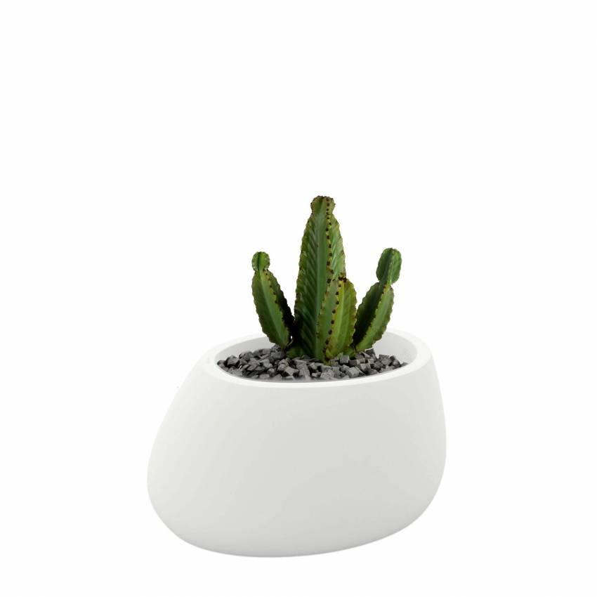 Pot de fleur outdoor STONES / H. 40 cm / Blanc