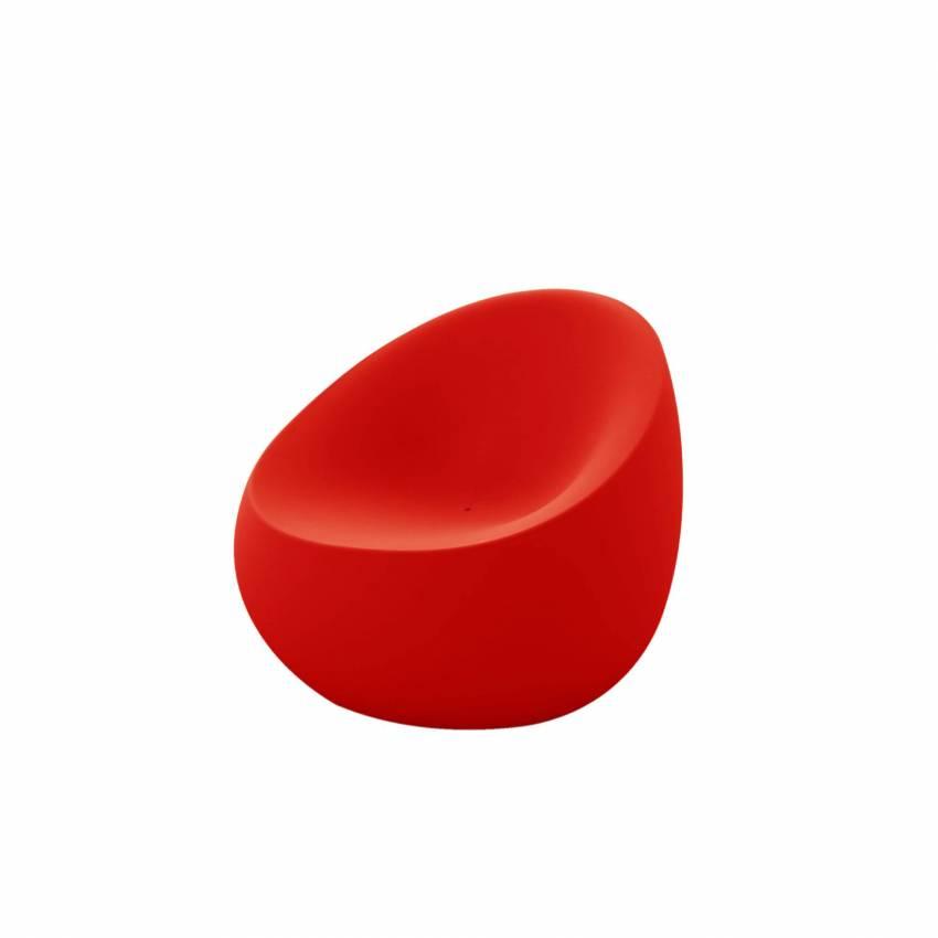 Fauteuil outdoor STONES / L. 88 cm / Rouge