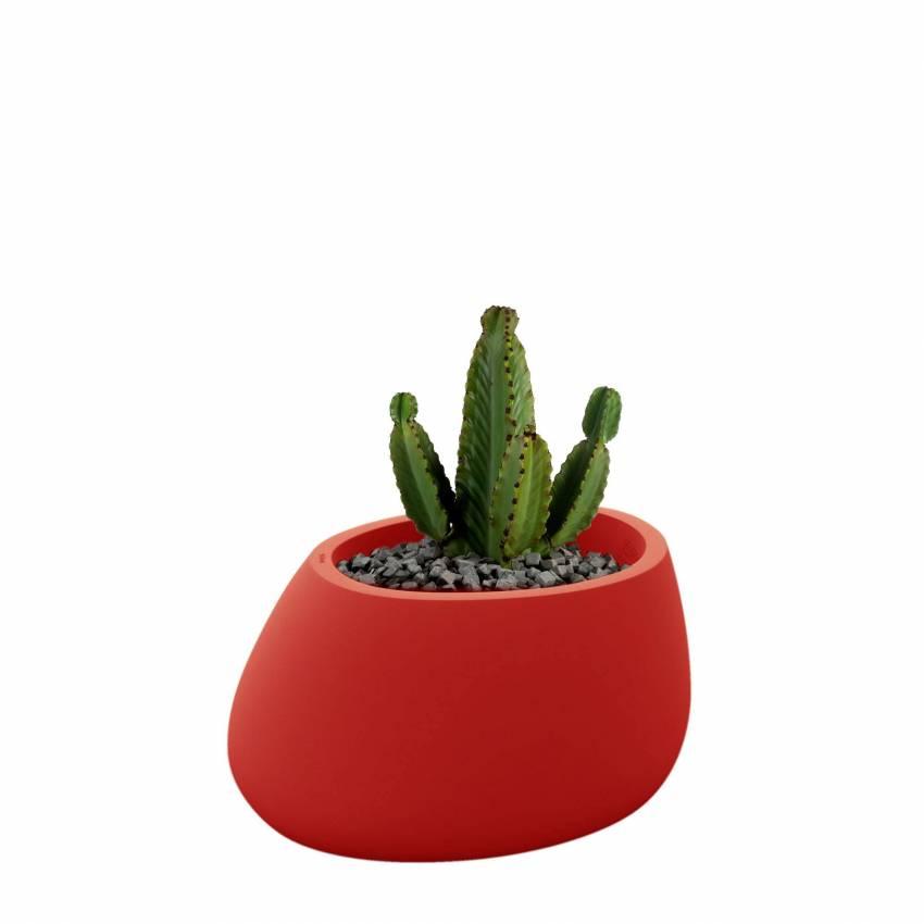 Pot de fleur outdoor STONES / H. 40 cm / Rouge