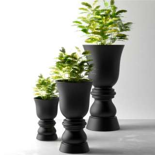Pot de jardin SUAVE / H. 65, 100 ou 150 cm / Anthracite