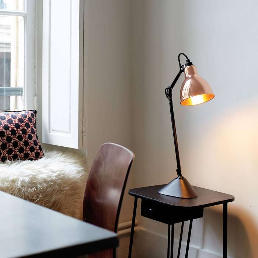 Lampe de bureau GRAS / H. 39 cm / Bronze / Int Bronze
