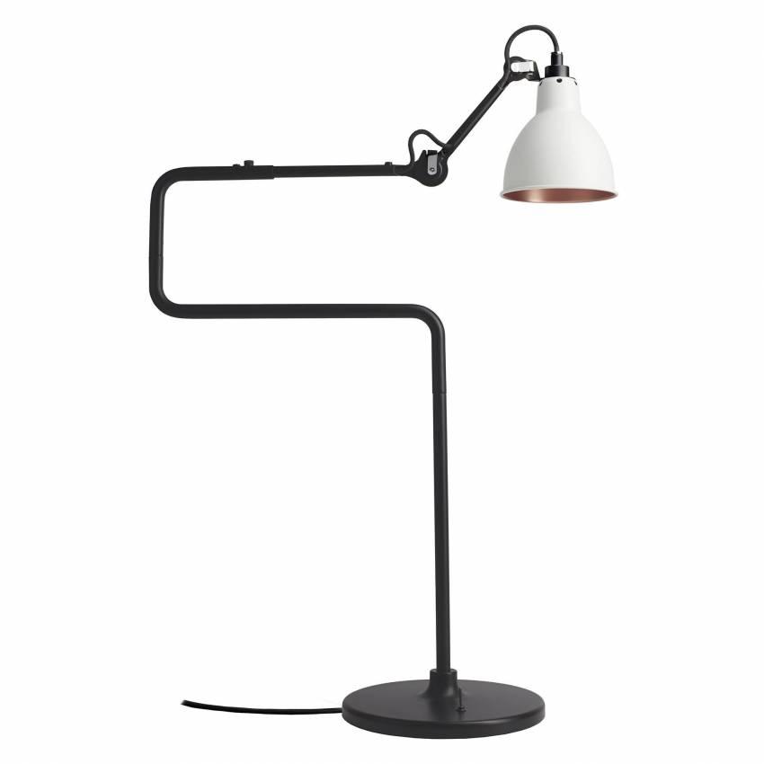 Lampe GRAS / H. 65 cm / Blanc / Int Bronze
