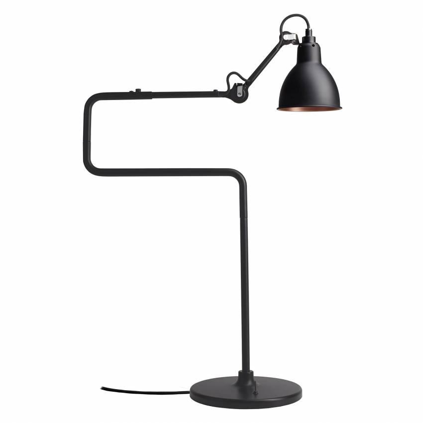 Lampe GRAS / H. 65 cm / Noir / Int Bronze