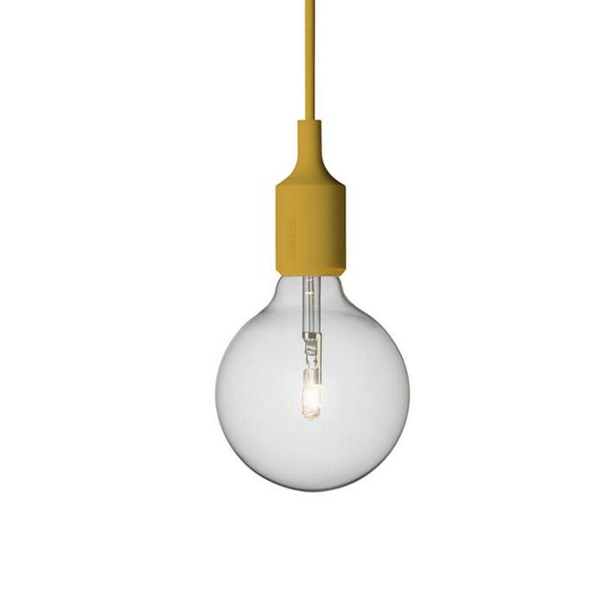 Suspension E27 ampoule LED / Jaune Moutarde / Muuto