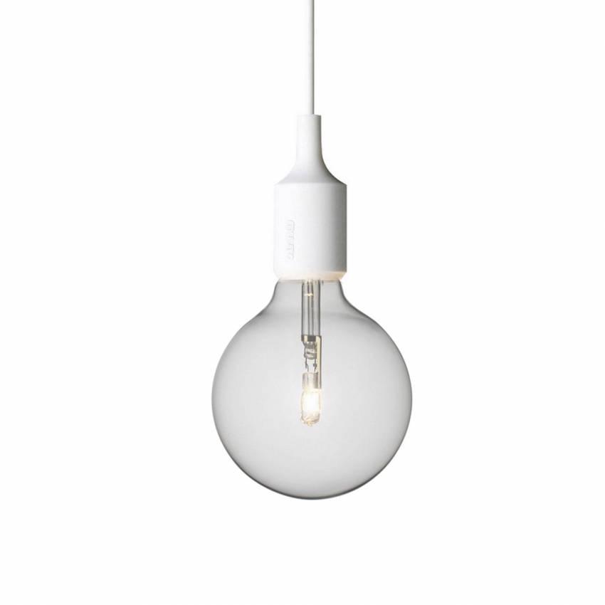 Suspension E27 en Silicone avec LED / Blanc / Muuto