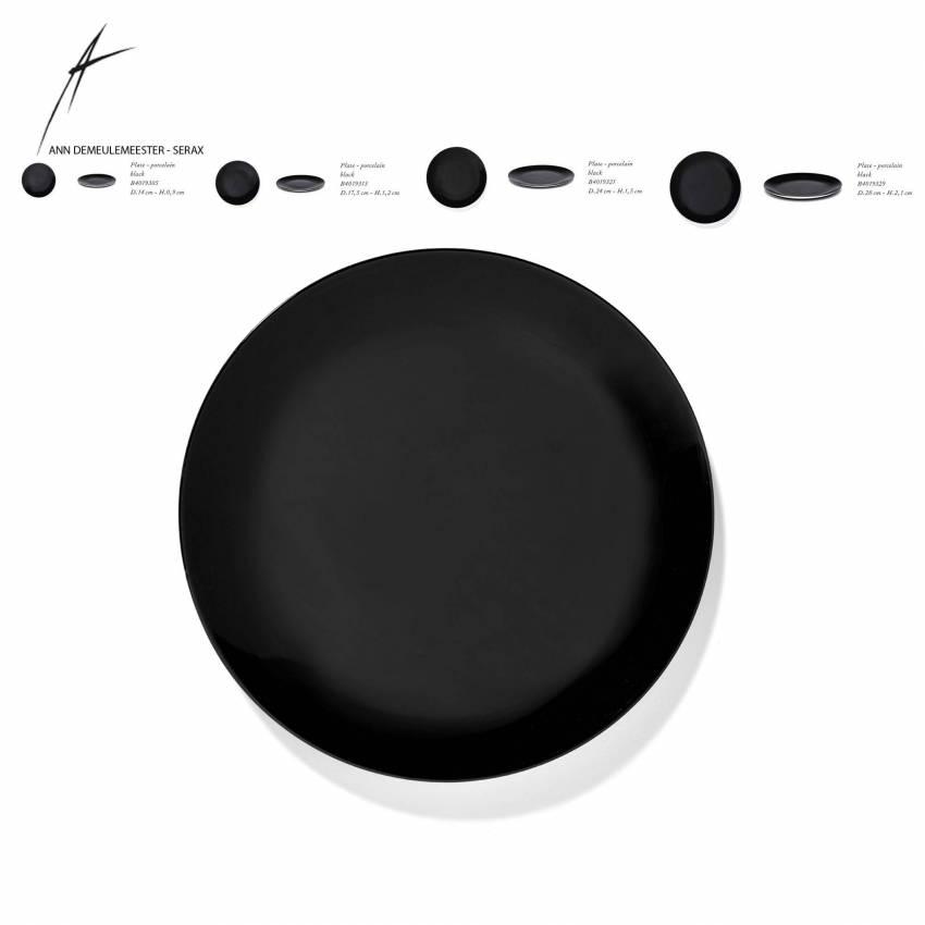 Lot de 2 assiettes DÉ en porcelaine / 4 dimensions / Noir