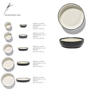 Lot de 2 bols DÉ en porcelaine / 5 dimensions / Blanc et Noir